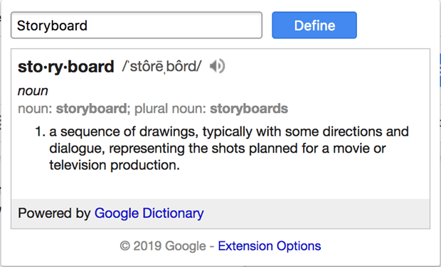 Definition of Storyboard