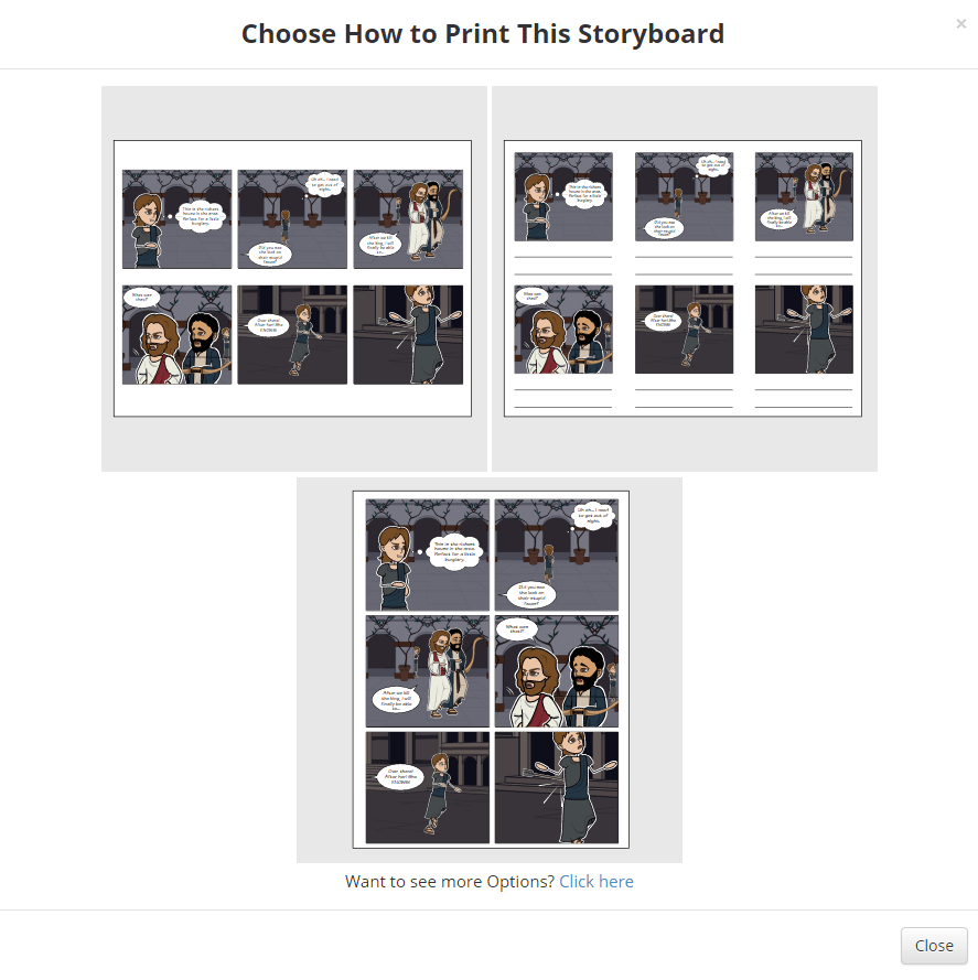 Drucken Sie Ihren Graphic Novel auf Storyboard That