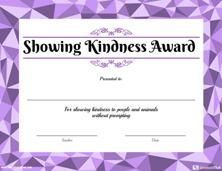 Award for Showing Kindness