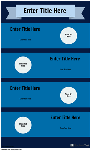 Blue Infographic Template