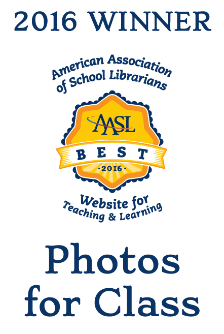 American Association of School Librarians Award for Photos for Class