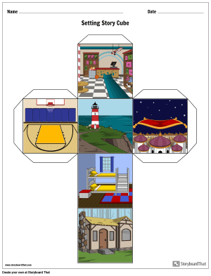 Completed Example of a Story Cube