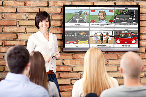Storyboard software for teamwork and business use