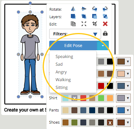 Storyboard creator software help to pose your characters