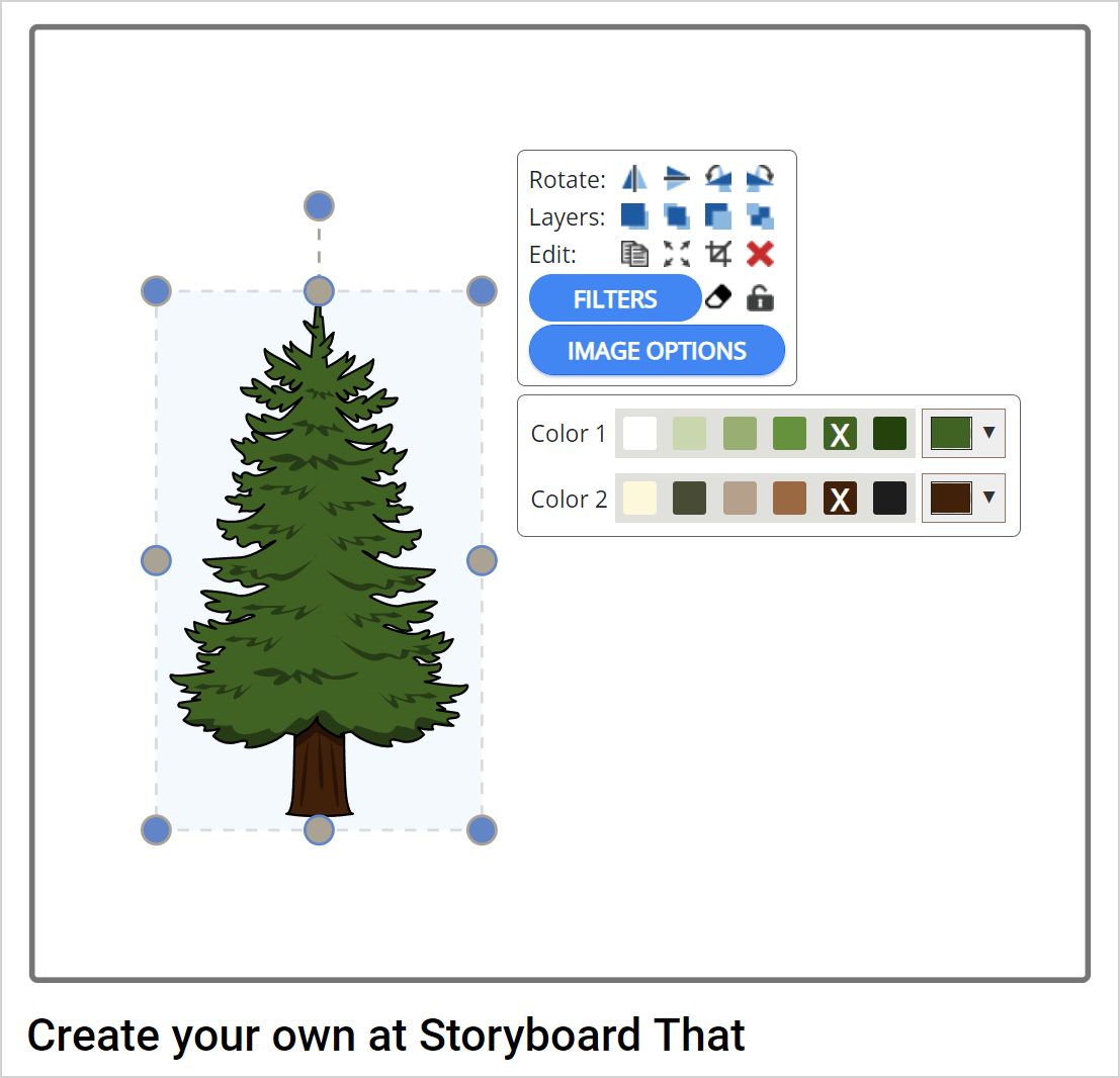 How to resize object storyboard creator
