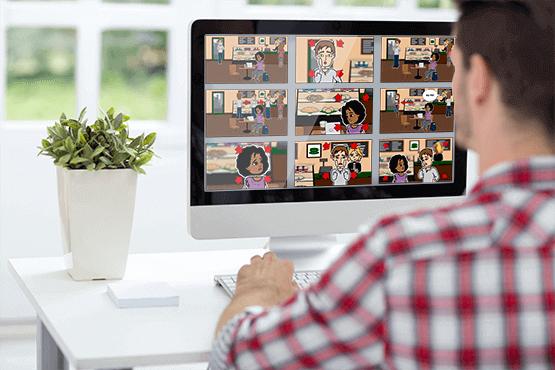 Storyboards (Szenen) online gestalten
