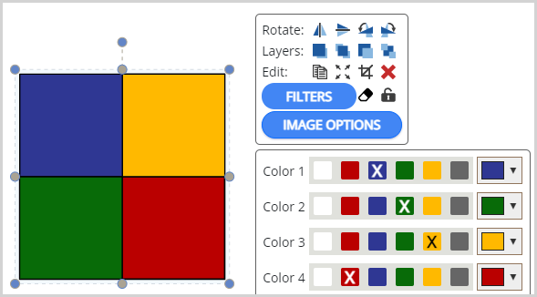 Uploading Vector Help - Square with New Colors