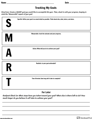 Making SMART Goals Worksheet Activity