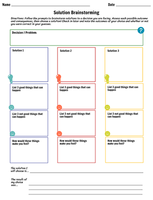 Decision Making Skills Worksheet