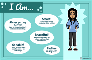 """I Am..."" Self Esteem Poster Activity"