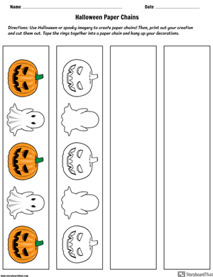 Halloween Classroom Paper Chains