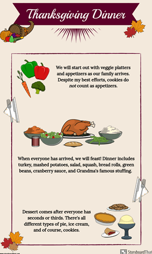 Make a Thanksgiving Dinner Menu