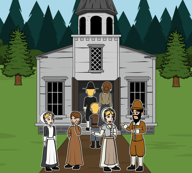 Massachusetts Bay Colony - Puritánske Viery