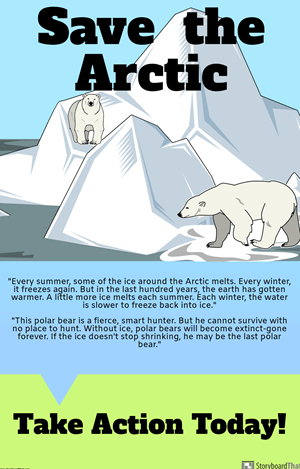 Where Do Polar Bears Live? by Sarah Thomson - Save the Arctic Poster or PSA