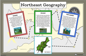 US Regions Northeast Geography Map