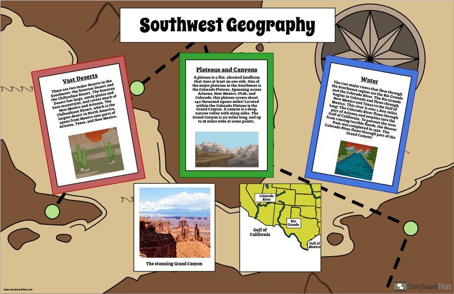 USA: s Regioner Southwest Geography