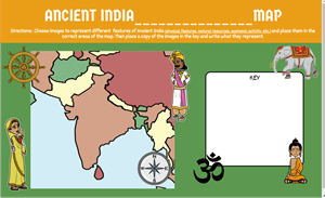 Create a Map of Ancient India