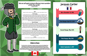 Notable Canadians in History Biography Poster