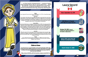 Canadian History 1800s Biography Poster