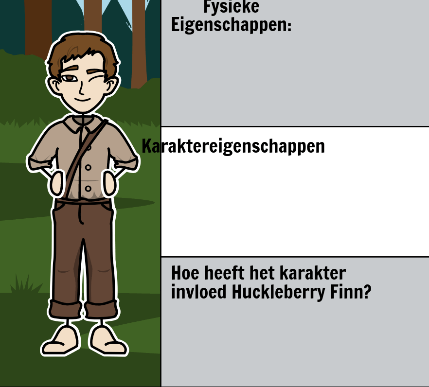 The Adventures of Huckleberry Finn van Mark Twain - <i>Huck Finn</i> Characters