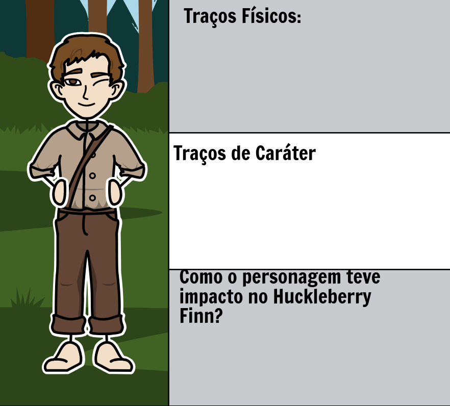 As Aventuras de Huckleberry Finn por Mark Twain - <i>Huck Finn</i> Personagens