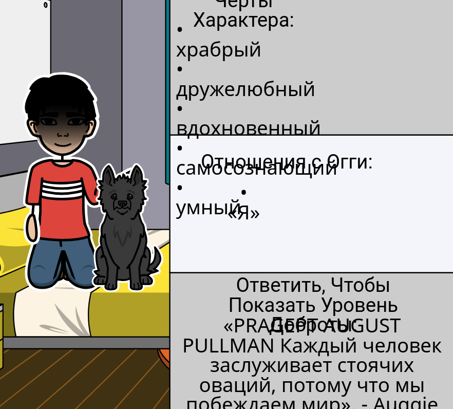 Wonder by RJ Palacio - <i>Wonder</i> Персонаж Карта