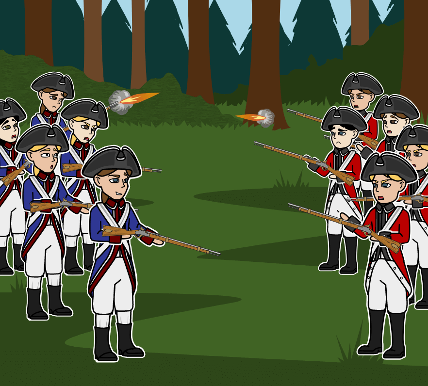 Amerikanska Revolutionen - Major American Revolution Battles Timeline