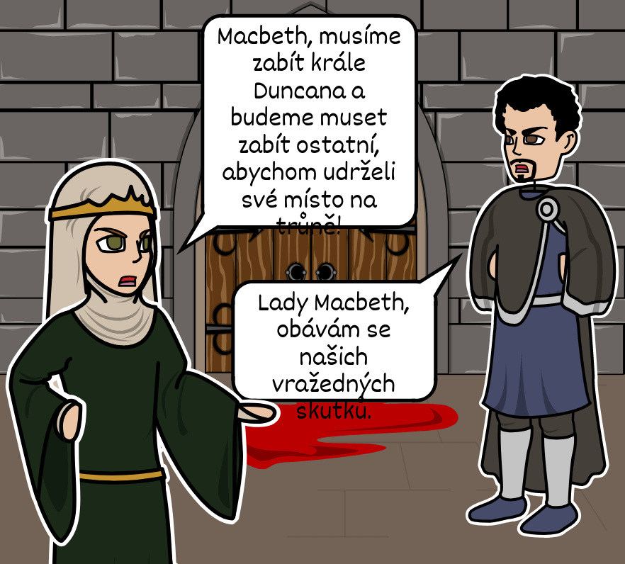 Macbeth William Shakespeare - <i>Macbeth</i> pět akt struktury
