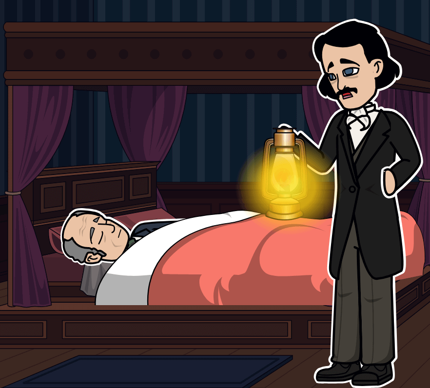 "Inima Tell-Tale de Edgar Allan Poe - Diagrama Plotului ""The Tell-Tale Heart"""