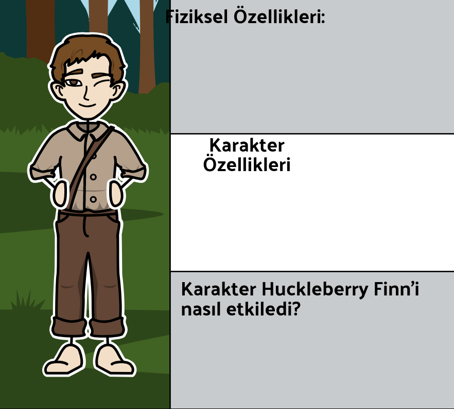 Mark Twain'in Huckleberry Finn'in Maceraları - <i>Huck Finn</i> Karakterleri