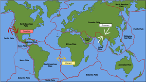 Structure of the Earth - Major Tectonic Plates