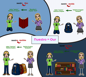 Tener with Possessive Adjectives - Agreement with Spanish Possessive Adjectives
