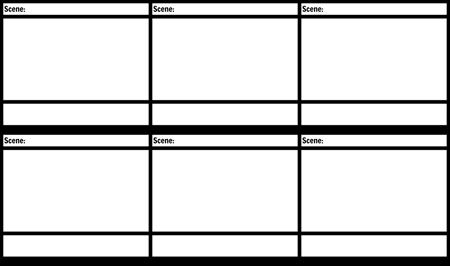 Blank Film Storyboard Template