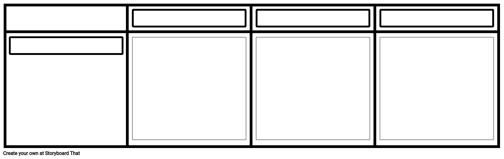 Blank Grid Storyboard for Film