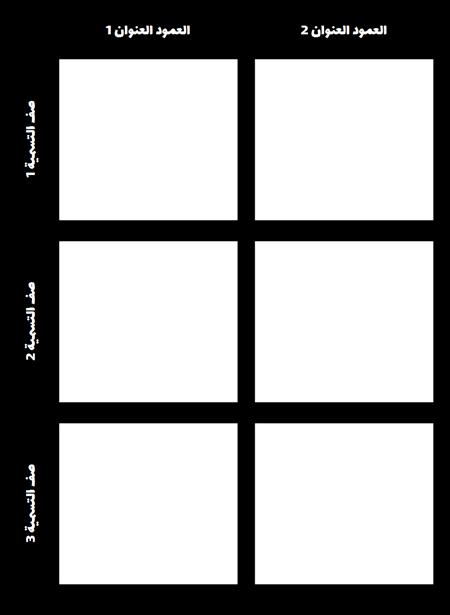 قالب الرسم البياني 3x2