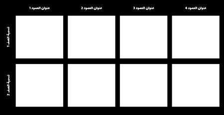 فارغ 2 × 4 الرسم البياني