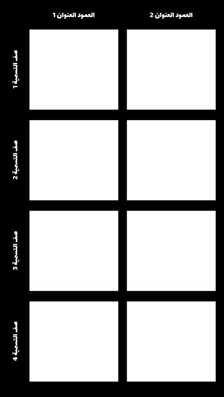 فارغ 2X4 الرسم البياني