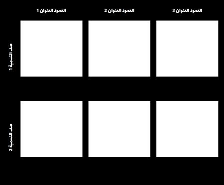 2x3 قالب الرسم البياني