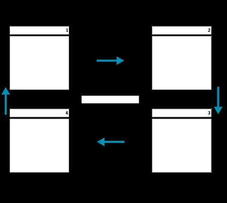 4 دورة الخلية مع السهام