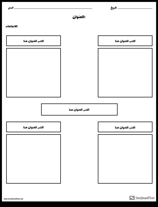 نموذج ورقة عمل Frayer قوالب صانع نموذج البخاخ