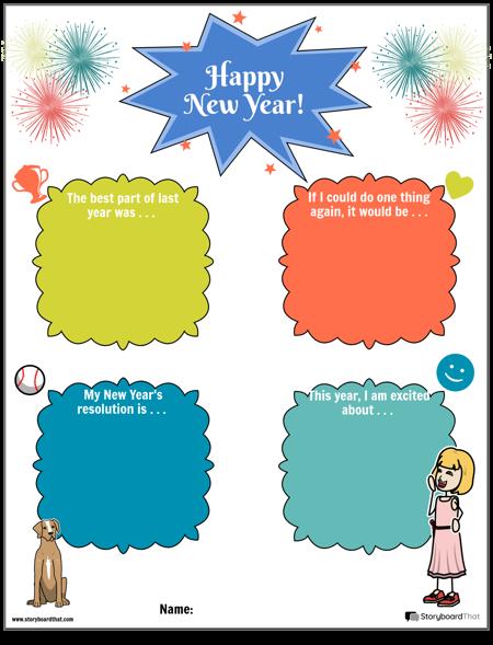 Шаблон, Честита Нова Година Размисъл