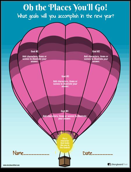 Шаблон, Цели с Балон с Горещ Въздух
