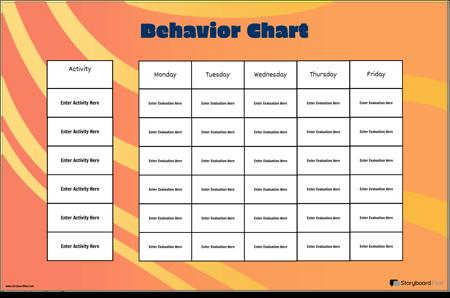Графична Таблица на Поведение