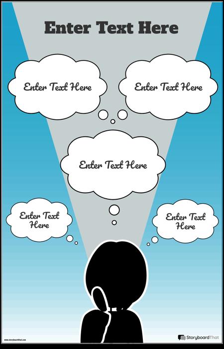 Инфографичен Шаблон за Мисли