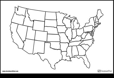 Карта на САЩ