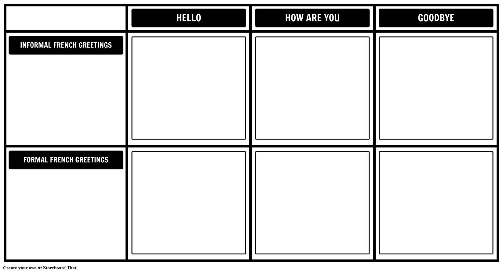 French Greetings Template