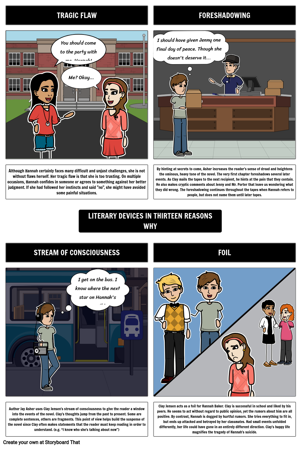 Thirteen Reasons Why Literary Devices