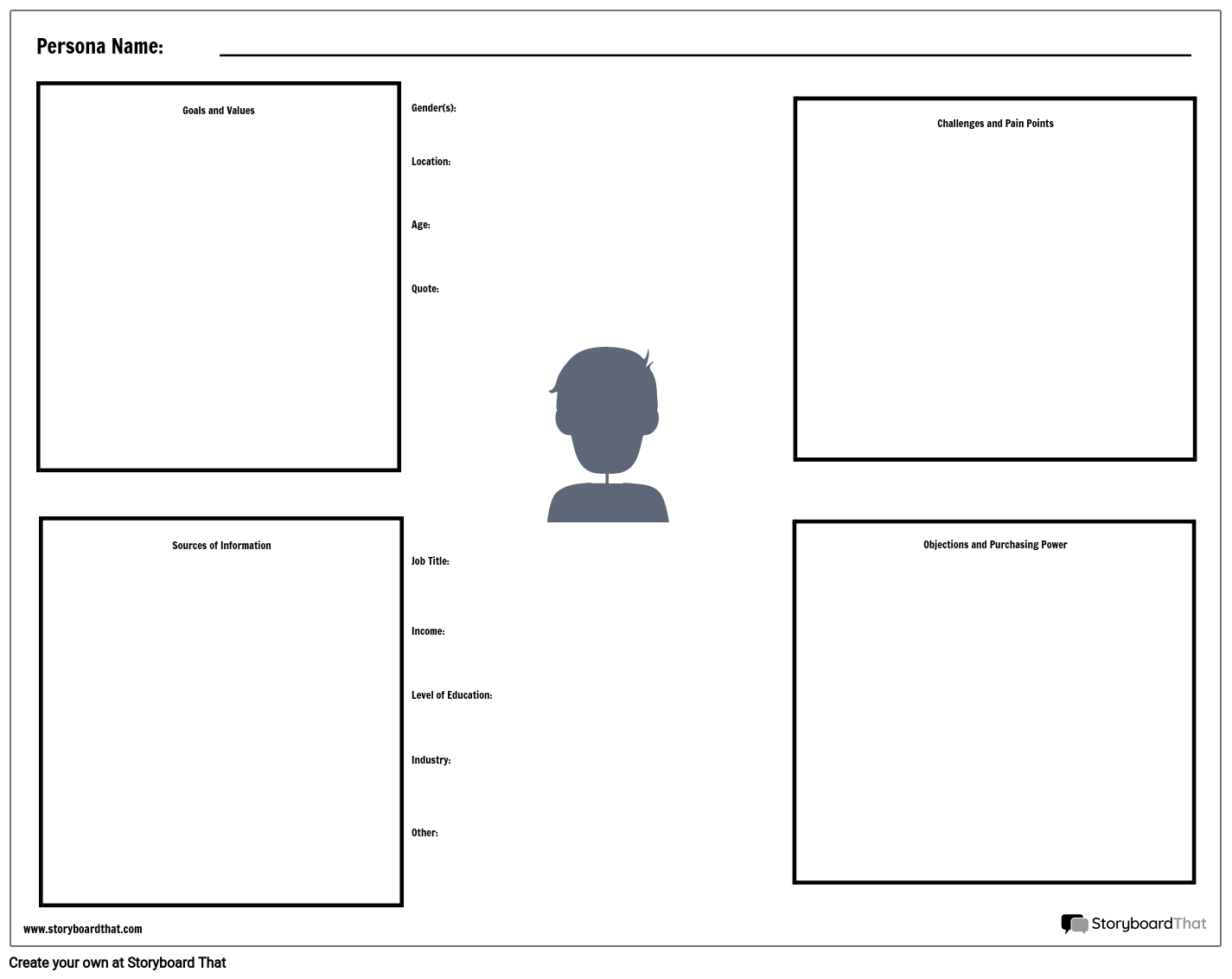 Persona Worksheet Template