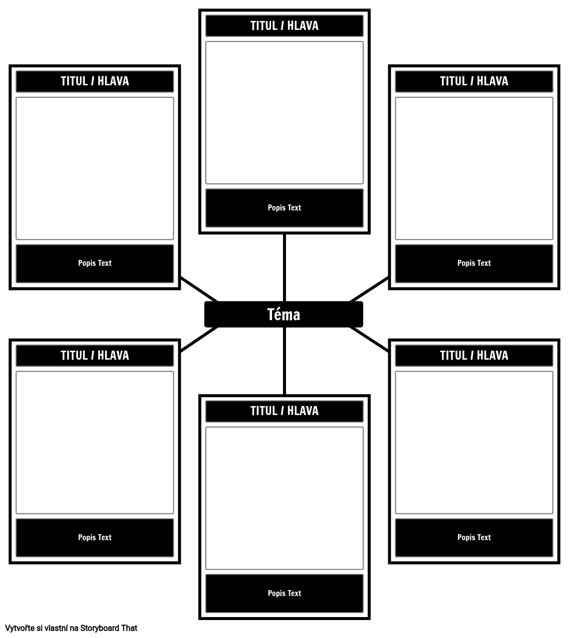6 Cell Spider Template