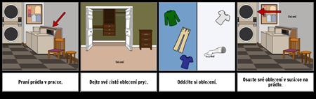 První ... Poslední Příklad - Mytí Oblečení
